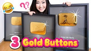 How I Got THREE Gold YouTube Play Buttons!!! 🙈 *Not Clickbait* thumbnail