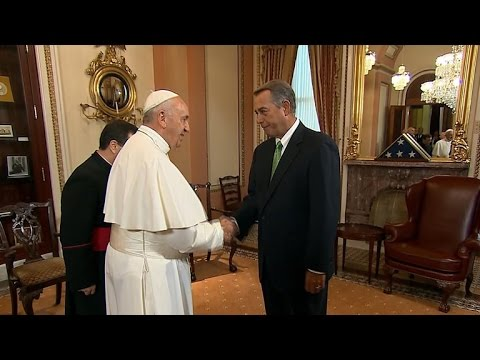House Speaker John Boehner announces resignation a day after meeting Pope Francis