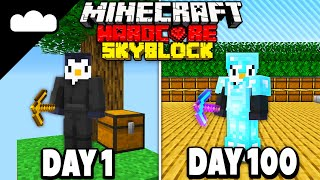 I Spent 100 Days in SPACE SKYBLOCK Minecraft... Here's What Happened - Skyes