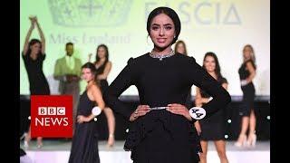 Miss England's Muslim headscarf finalist - BBC News