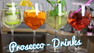 4 leckere Drinks mit Prosecco - Hugo, Aperol, Himbeer Prosecco & Co.
