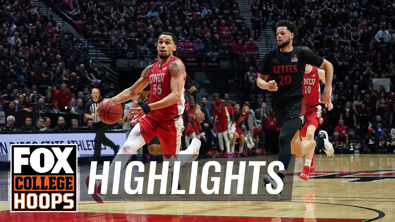 UNLV ends No. 4 San Diego State's perfect season with 66-63 road win  HIGHLIGHTS