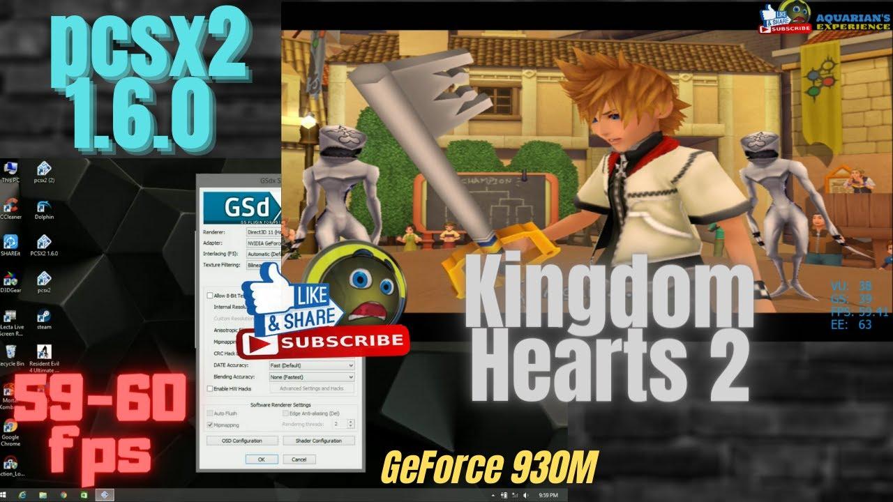 Kingdom Hearts 2 Pcsx2 Best Settings 1 6 0 On Pc 59 60fps Youtube