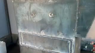 Водяной котел с ретортной горелкой на пеллетах