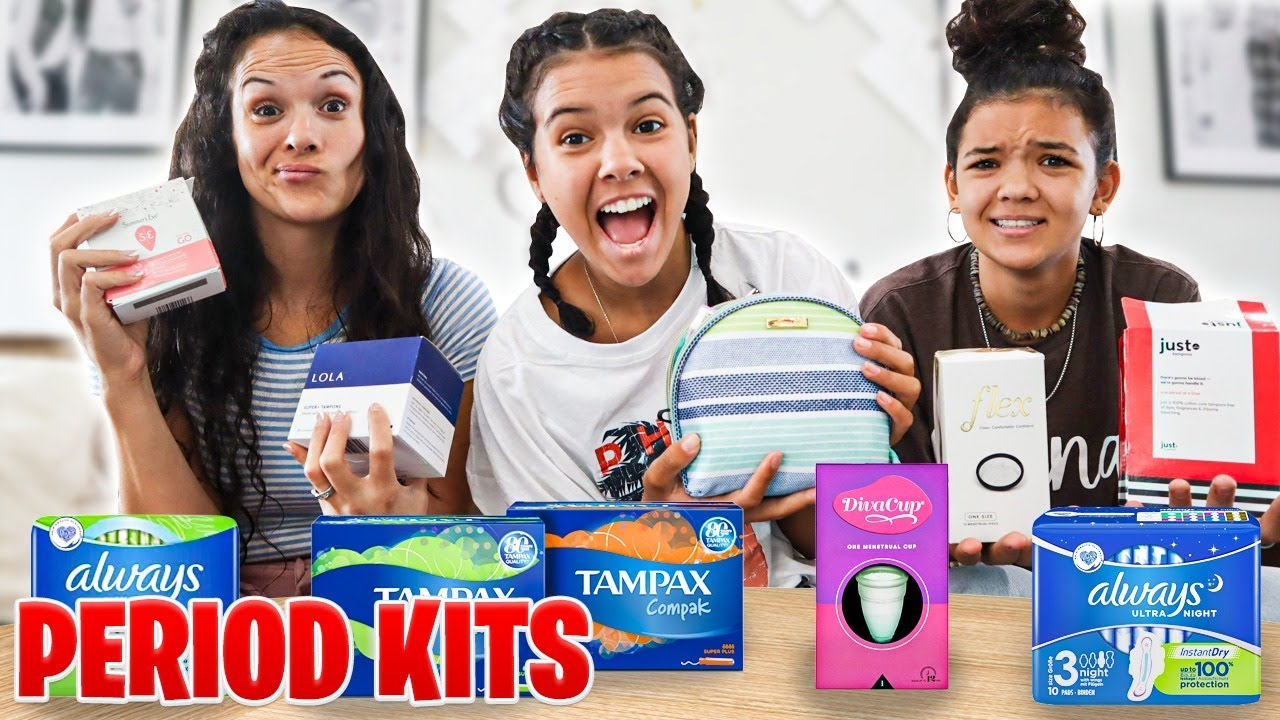 Download Comparing Tampons & Pads, what is best! PERIOD Kits for Teen Girls!!