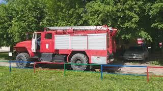 Пожар в Йошкар-Оле 24 мая: горят сараи (2)