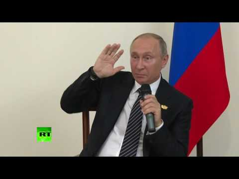 'Maybe I said something wrong': Blackout as Putin talks about NSA surveillance at BRICS presser