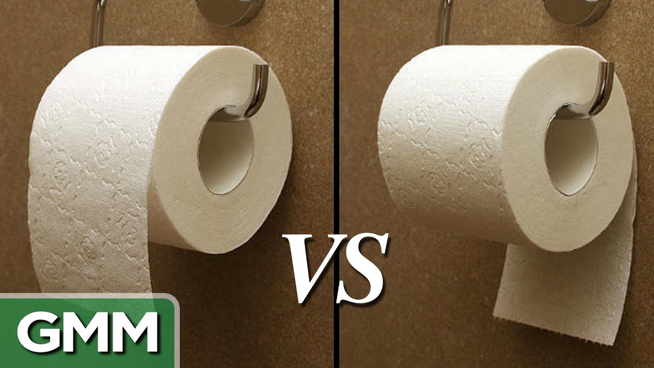 Toilet Paper - over or under?