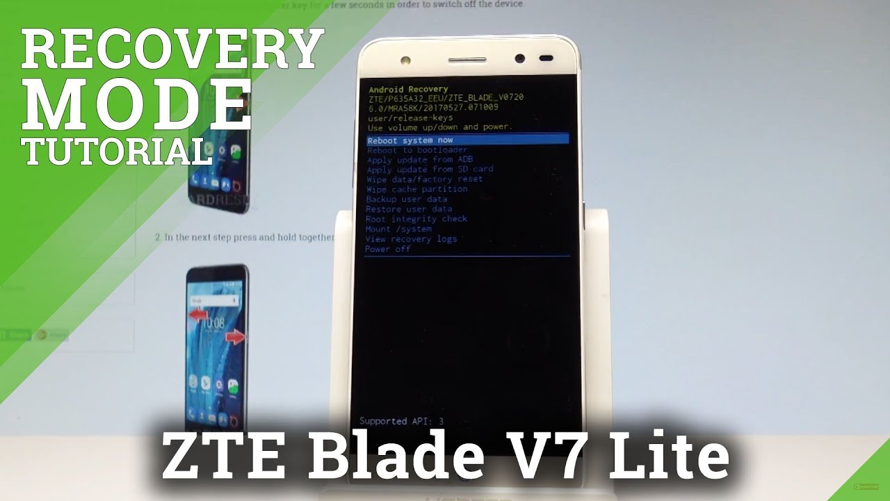 How to Enter Recovery Mode in ZTE Blade V7 Lite |HardReset info