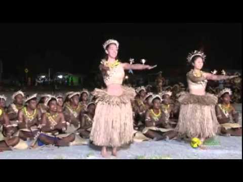 Volunteers and their Kiribati Dance  te buki