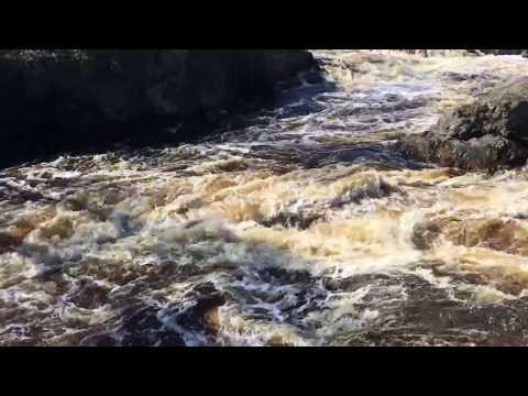 Whitewater and waterfall Machias, Maine