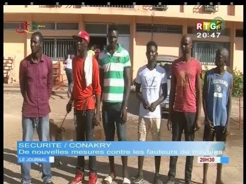 www.guineesud.com - Sécurité à Conakry - Arrestation de fauteurs de troubles présumés. Le 15.10.2018