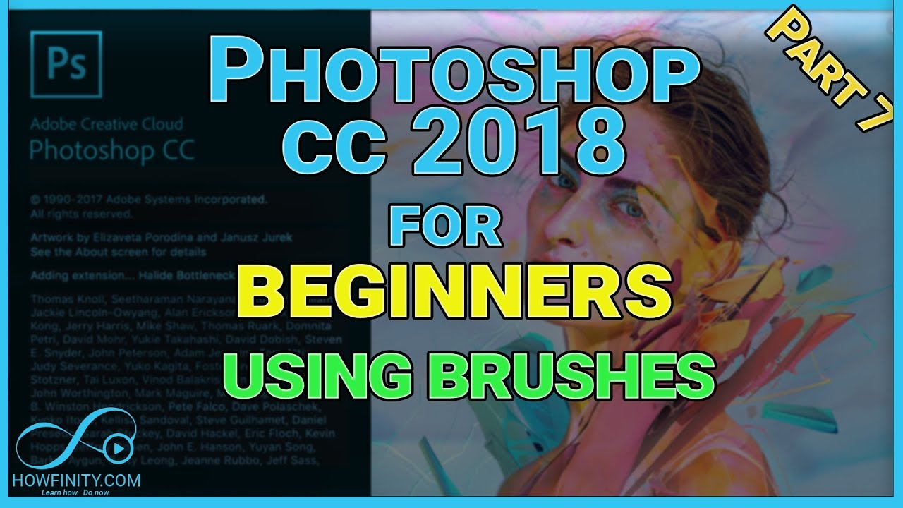How to use Photoshop CC 2018-Part 7-For beginners Using brushes in photoshop