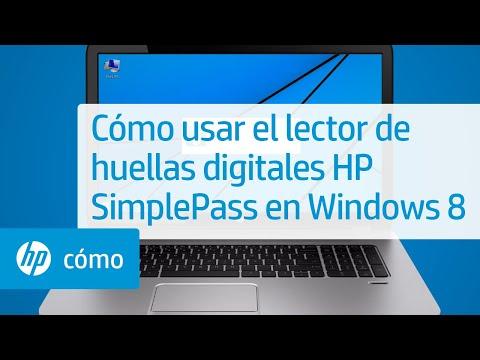 Cómo usar el lector de huellas digitales HP SimplePass en Windows 8 | HP Computers | HP