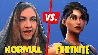 Fortnite Spieler vs. Normale Menschen