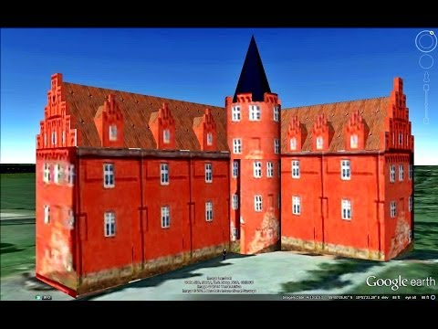HISTORICAL PLACES OF DENMARK IN GOOGLE EARTH PART ONE  ( 1/4 )