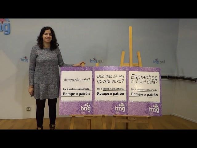 Noa Presas presenta a campaña do 25 de novembro, Día Internacional contra as Violencias Machistas