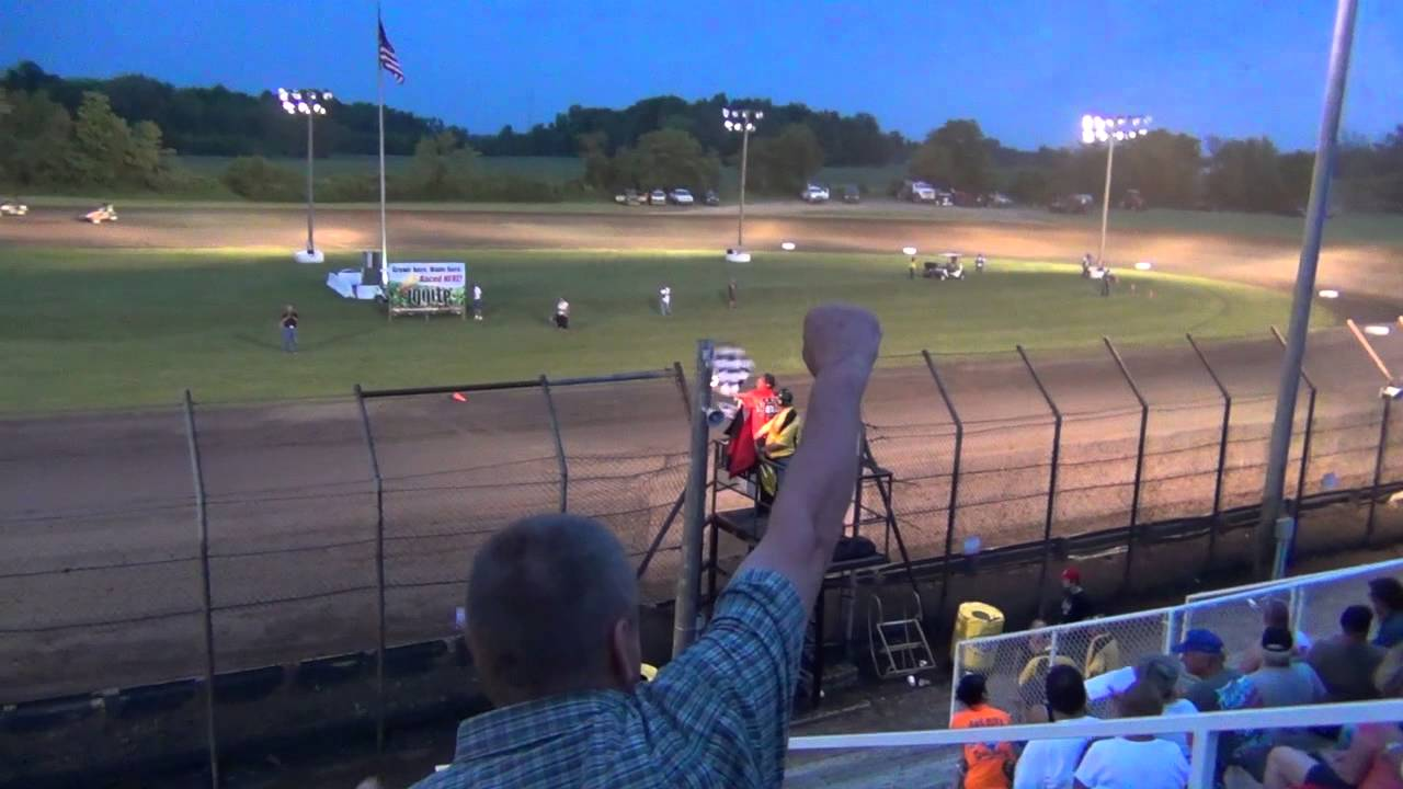 Kyle Larson USAC Midget Win - Victory Donut RollOver (Gas City Speedway)