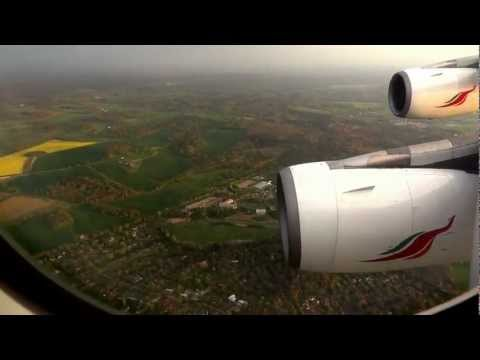 Srilankan Airlines landing at Heathrow T4...
