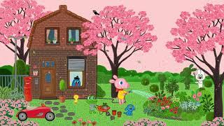 [굴리굴리] 데이지와 함께하는 벚꽃 나들이 음악 1시간 HIGH DEFINITIONGOOLYGOOLY illust Screensaver  1 HOUR