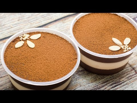 MILK CHEESE CHOCO MOUSSE DESSERT BOX RECIPE I EGGLESS & WITHOUT OVEN