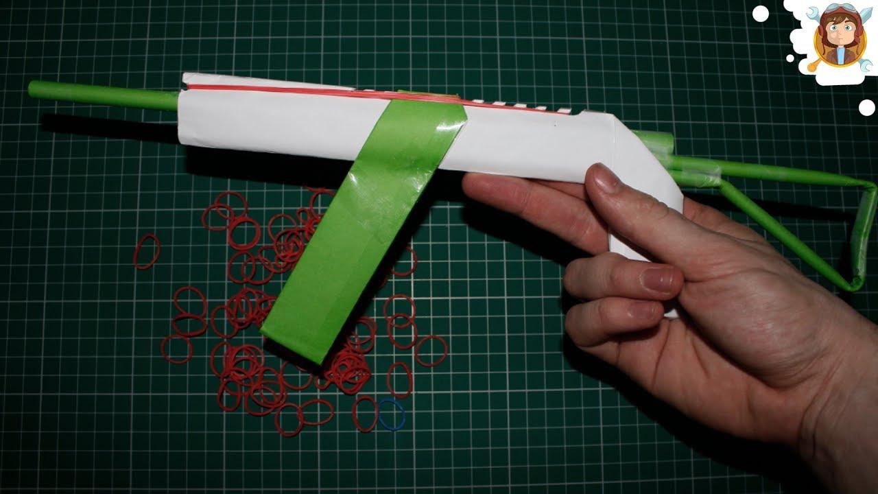 Make A Paper Ak 47 Gun That Shoots 10 Rubber Bands Youtube