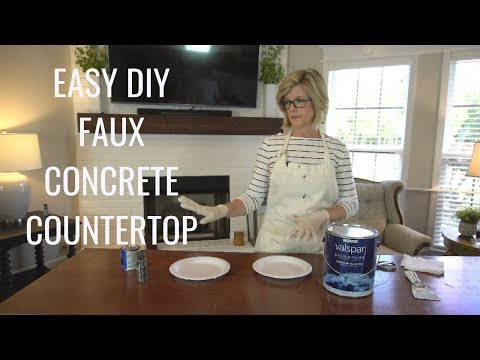 Easy DIY Faux Concrete Countertop