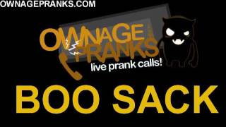 OwnagePranks: Asian Restaurant Boo Sack! *Full Prank*~Part 1 & 2 (Buk Lau voice)