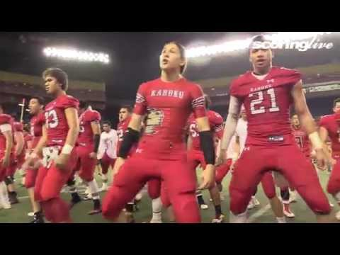 ScoringLive: Kahuku celebrates their state title with a final Haka