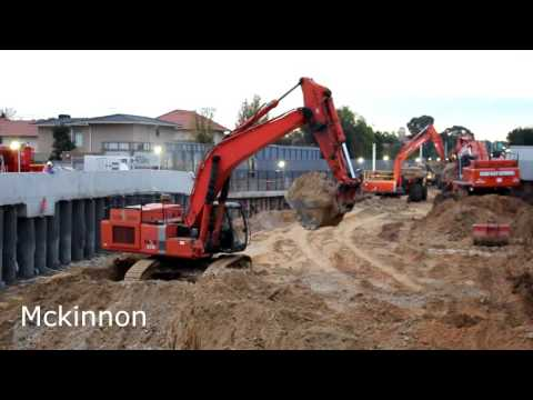 Level crossing removal works, Bentleigh, 28-29/6/2016