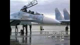 Sukhoi Su-27 Flankers visit Grand Forks AFB