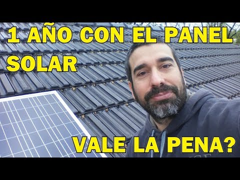 1 año con panel solar. Vale la pena?