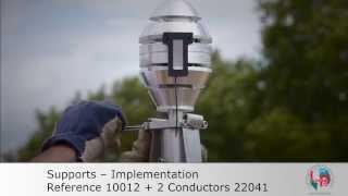 LPS France - Lightning Rod Early Streamer Emitter (ESE) Installation EN