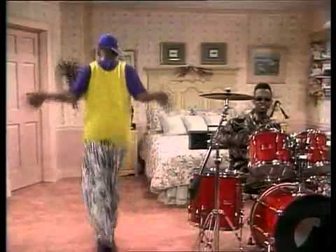 [Original Clip] Will Smith - Fresh Prince Of Bel Air Jazzy Jeff on Drums & Dance