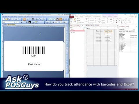 ask posguys how do you track attendance with excel and barcodes