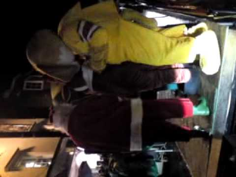 Fat bloke dancing badly in a stupid dog costume