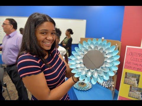 Junior Achievement summer program kids showcase products, woo judges