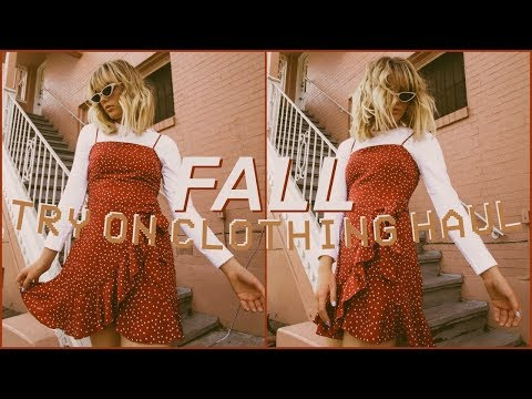 CUTEST FALL TRY ON CLOTHING HAUL