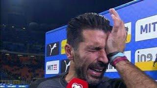 Gigi Buffon Llora la eliminación de Italia...🔘✔