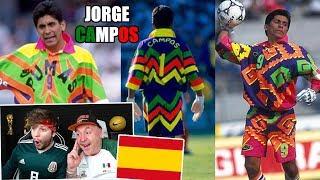 ESPAÑOLES REACCIONAN A JORGE CAMPOS (EL MEJOR PORTERO DE MÉXICO)
