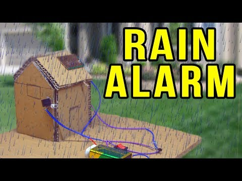 How To Make A Rain Detector With Alarm - Electronics Projects