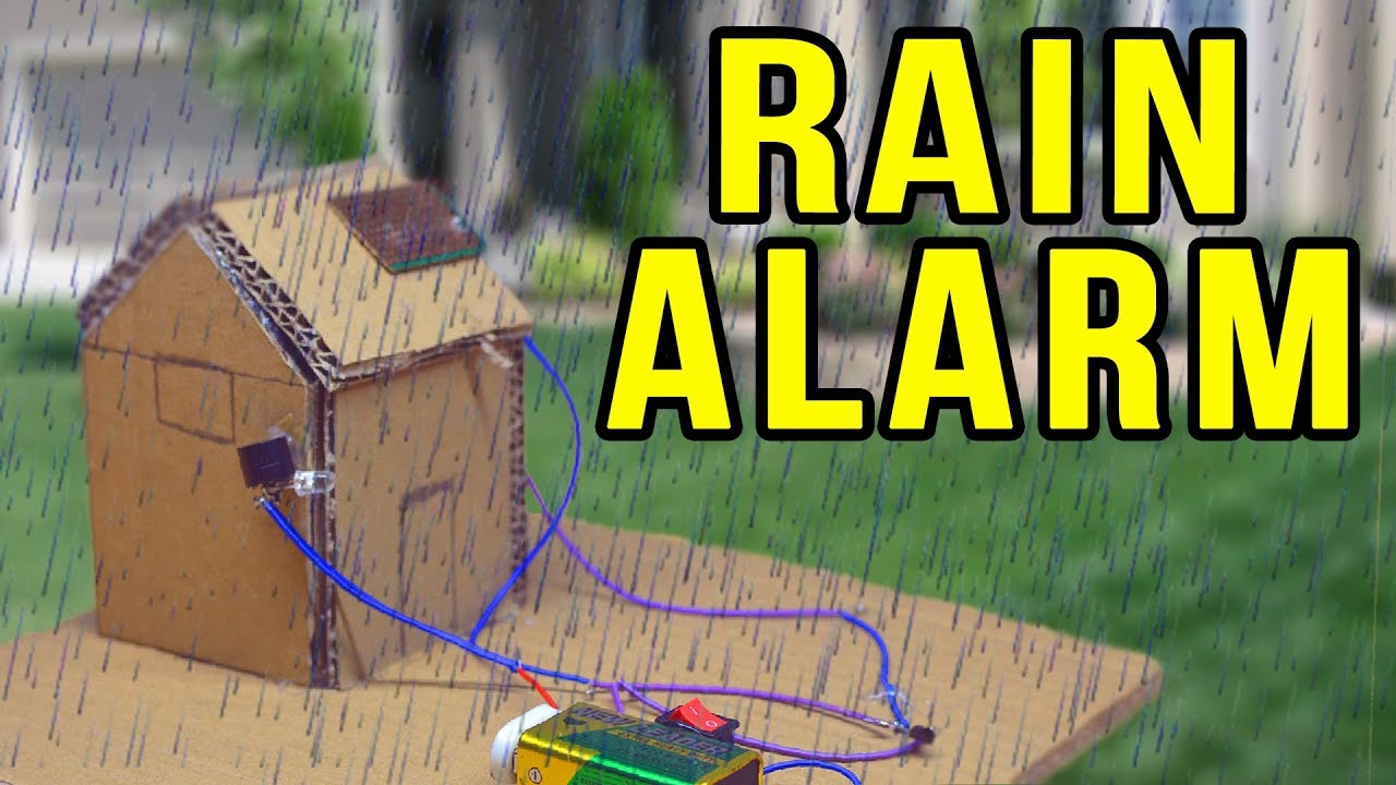 how to make a rain detector with alarm electronics projects [ 1280 x 720 Pixel ]