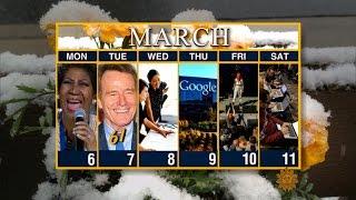 Calendar: Week of March 6