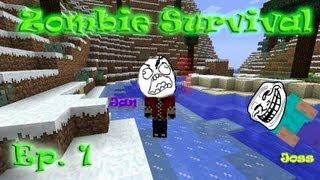 Zombie Survival. Ep. 1. Jan näitab oma mehiseid külgi.