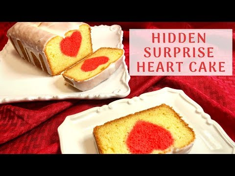 Surprise Hidden HEART Cake For The Valentine's Day! ❤️ Vanilla Cake With A Lemon Glaze