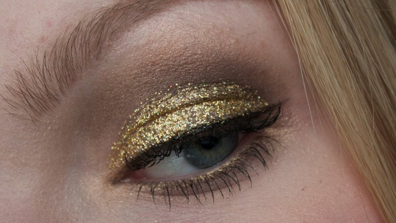 Verbazingwekkend Gouden glitter kerst make-up tutorial - YouTube UU-86