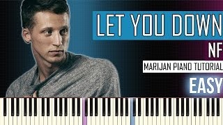 How To Play: NF - Let You Down | Piano Tutorial EASY + Sheets