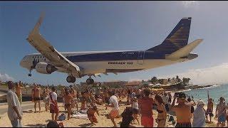 Airplane low pass! St.Maarten, Maho beach..