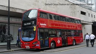 Metroline London VWH2015 Volvo B5LH @ Rt.7 from Oxford Circus Station to Ladbroke Grove Station