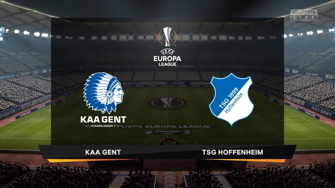 KAA Gent - 1899 Hoffenheim   UEFA Europa League 2020-2021   eFootball PES  2020 Gameplay - YouTube